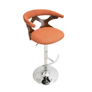 Gardenia Walnut Wood Mid Century Modern Adjustable Bar Stool