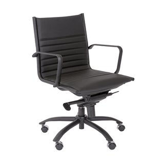 Euro Style Black/ Matte Black Dirk-PC LB Office Chair
