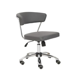 Euro Style Grey/ Chrome Draco Office Chair