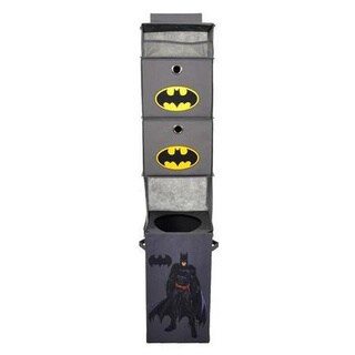 Batman Grey Closet Hanging Organizer with 2 Storage Bins