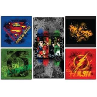 Justice League Canvas Prints (Set of 5)