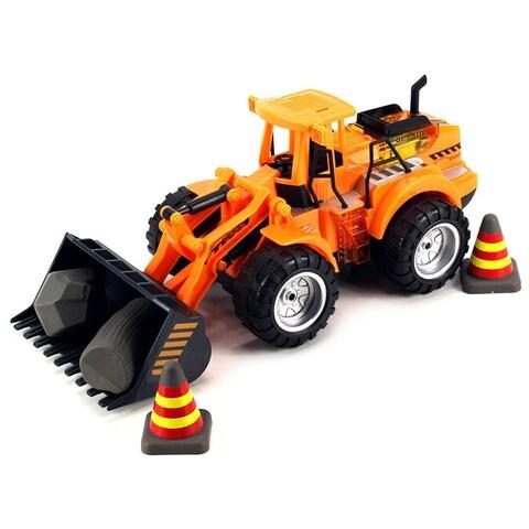 Velocity Toys Power Construction Bulldounceser Children's Remote Control Truck