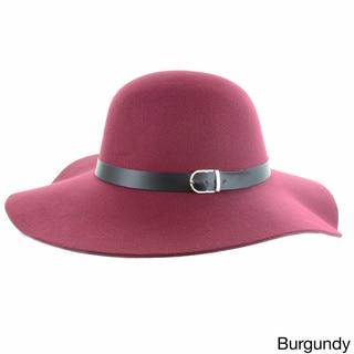 Faddism Women's Melrose Wool Felt Wide Brim Floppy Hat
