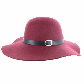Faddism Women's Melrose Wool Felt Wide Brim Floppy Hat