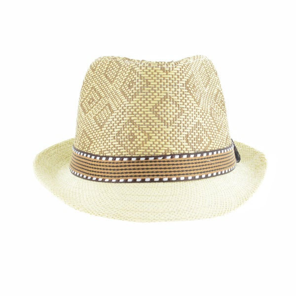 b8a969f9f501f Shop Faddism Men s Fashion Straw Plaid Fedora Hat - Free Shipping On Orders  Over  45 - Overstock - 11346080