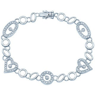 14k White Gold 1ct TDW Diamond Bracelet
