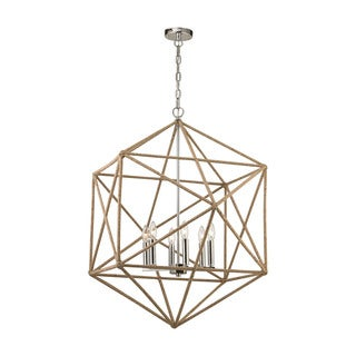 Elk Exitor 6-light LED Chandelier in Polished Nickel