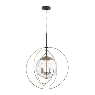 Elk Zonas 3-light LED Chandelier in Polished Gold and Oil Rubbed Bronze