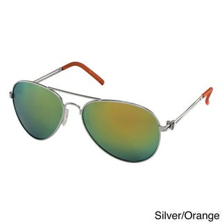 Khan Men's Chopper Metal Aviator Sunglasses