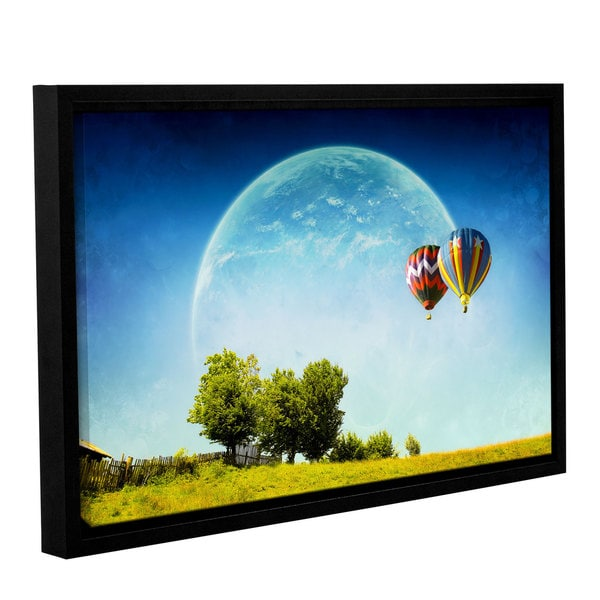 ArtWall Dragos Dumitrascu's Dreamland Explorer, Gallery Wrapped Floater-framed Canvas