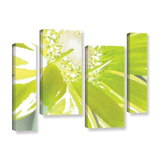ArtWall Herb Dickinson's Gerber Time IV, 4 Piece Gallery Wrapped Canvas Staggered Set