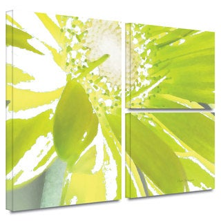 ArtWall Herb Dickinson's Gerber Time IV, 3 Piece Gallery Wrapped Canvas Flag Set