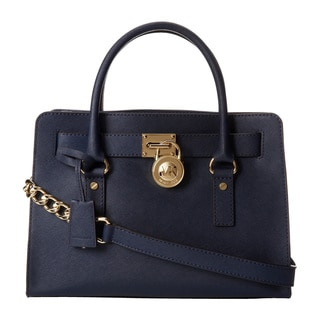 Michael Kors Hamilton East/West Navy Satchel Handbag