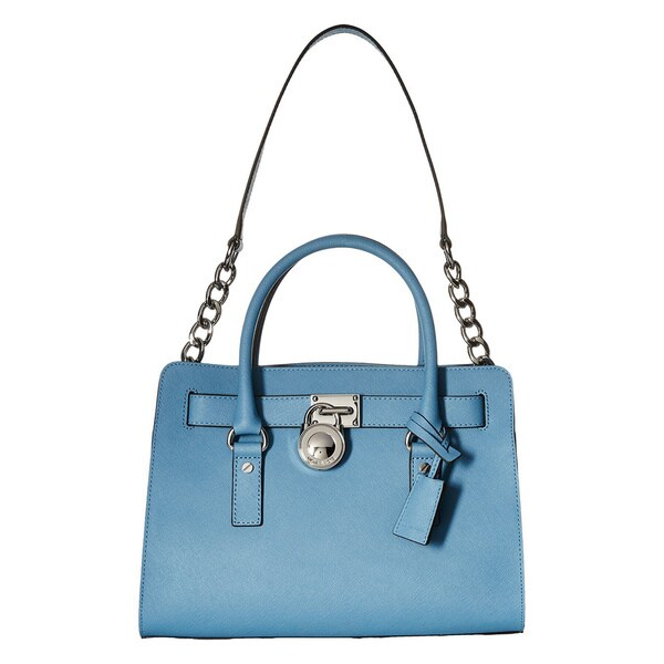 c7ea47585706 Shop Michael Kors Hamilton East/West Sky Blue Satchel Handbag - Free ...