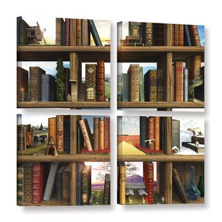 ArtWall Cynthia Decker's story world, 4 Piece Gallery Wrapped Canvas Square Set