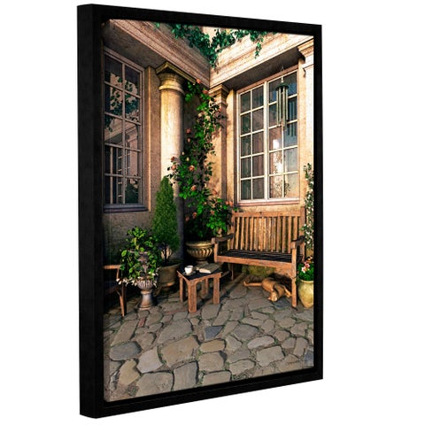 ArtWall Cynthia Decker's Romance Novel, Gallery Wrapped Floater-framed Canvas - multi