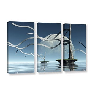 ArtWall Cynthia Decker's Ribbons, 3 Piece Gallery Wrapped Canvas Set