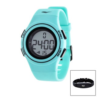 Everlast Turquoise HR6 Heart Rate Monitor Watch with Transmitter Belt - Blue