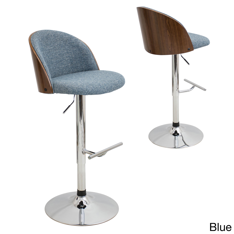 Lumisource Luna Mid-Century Modern Adjustable Barstool in...