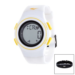 Everlast White HR6 Heart Rate Monitor Watch with Transmitter Belt