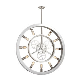 Elk Chronology 11-light LED Chandelier in Brushed Nickel