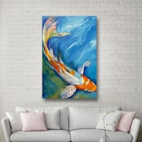 ArtWall Michael Creese's Yamato Nishiki Koi, Gallery Wrapped Canvas