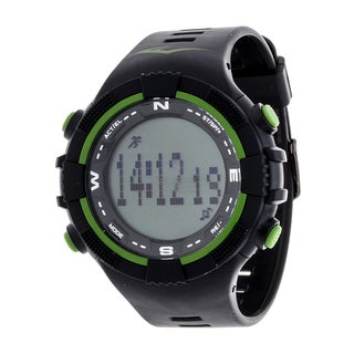 Everlast Fitness Green Activity Tracker W/LED / Sleep PD2 with Pedometer Watch