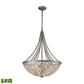 Elk Renaissance 6-light LED Chandelier in Weathered Zinc