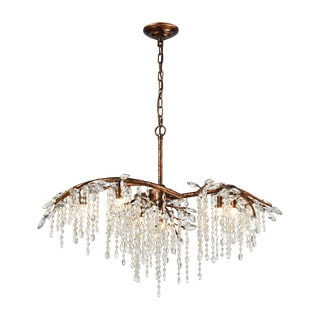Elk Elia 6-light LED Chandelier in Spanish Bronze