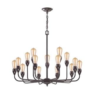 Elk Vernon 15-light LED Chandelier in Oil Rubbed Bronze