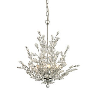 Elk Crystique 6-light LED Chandelier in Polished Chrome