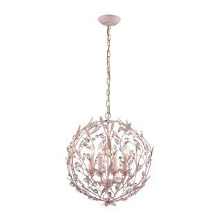 Elk Circeo 4-light LED Chandelier In-light LED Pink