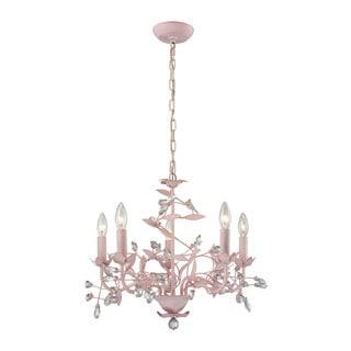Elk Circeo 5-light LED Chandelier In-light LED Pink