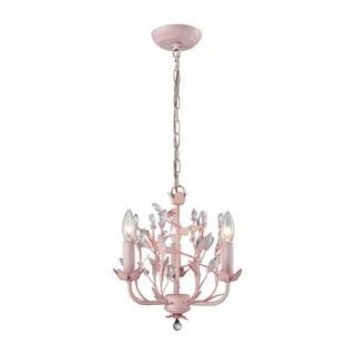 Elk Circeo 3-light LED Chandelier In-light LED Pink