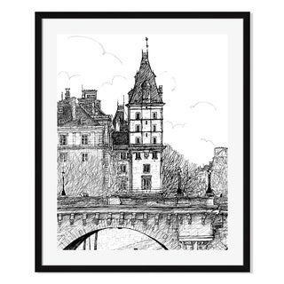 Gallery Direct Pont Neuf in Paris Print on Paper Framed Print