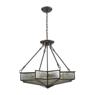 Elk Deco star 4-light LED Chandelier in Oil Rubbed Bronze