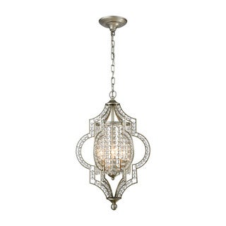 Elk Gabrielle 3-light LED Chandelier in Aged Silver