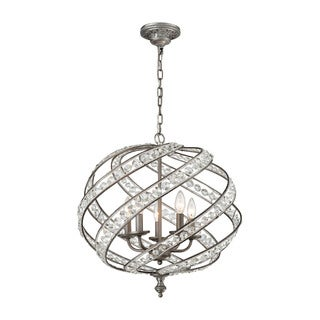 Elk Renaissance 5-light LED Chandelier in Weathered Zinc