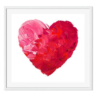 Gallery Direct Watercolor Heart Print by Undrey on Paper Frame Wall Art