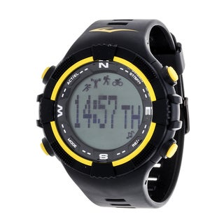 Everlast Fitness Yellow Activity Tracker W/LED / Sleep PD2 with Pedometer Watch