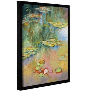 ArtWall Michael Creese's Water Lily, Gallery Wrapped Floater-framed Canvas