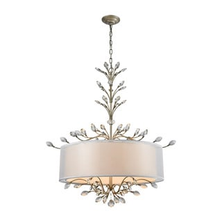 Elk Asbury 6-light LED Chandelier in Aged Silver