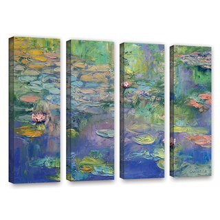 ArtWall Michael Creese's Water, 4 Piece Gallery Wrapped Canvas Set