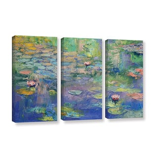 ArtWall Michael Creese's Water, 3 Piece Gallery Wrapped Canvas Set