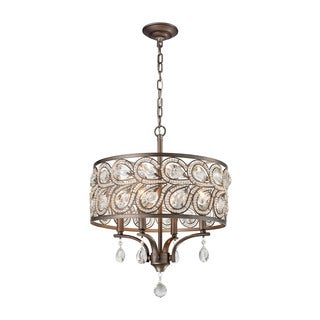 Elk Evolve 4-light LED Chandelier in Weathered Zinc