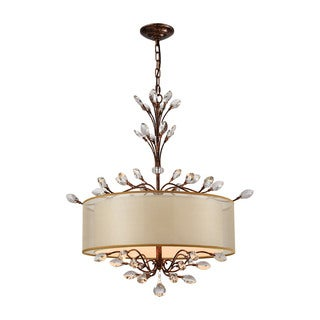 Elk Asbury 4-light LED Chandelier in Spanish Bronze