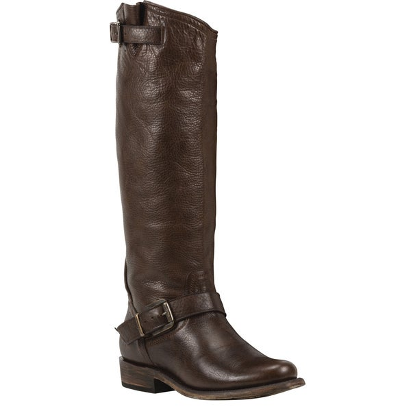 Black Star Virgo Brown Women's Leather Fashion Western Boots