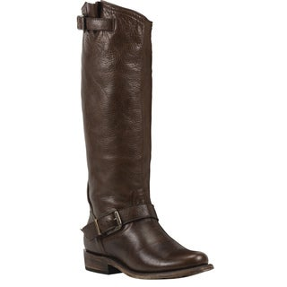 Black Star Virgo Brown Women's Leather Fashion Western Boots