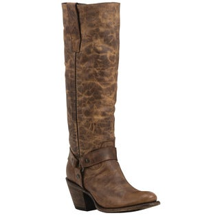 Black Star Vega Brown Women's Leather Fashion Western Boots