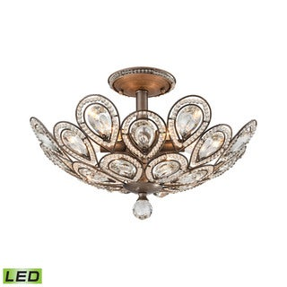 Elk Evolve 6-light LED Semi Flush in Weathered Zinc